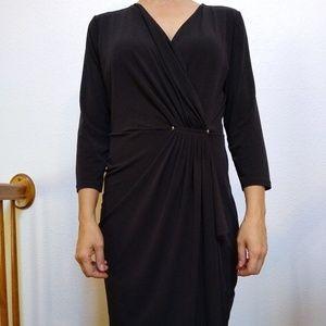 Michael Kors Black Midi Dress Size Medium